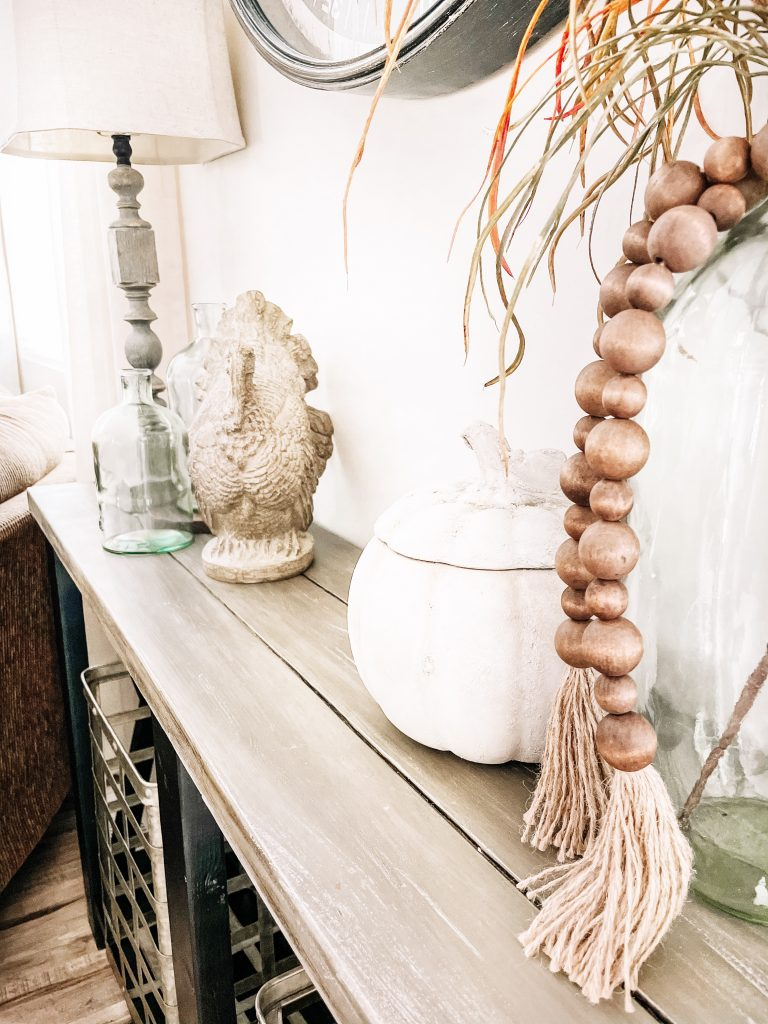console table thanksgiving home decor